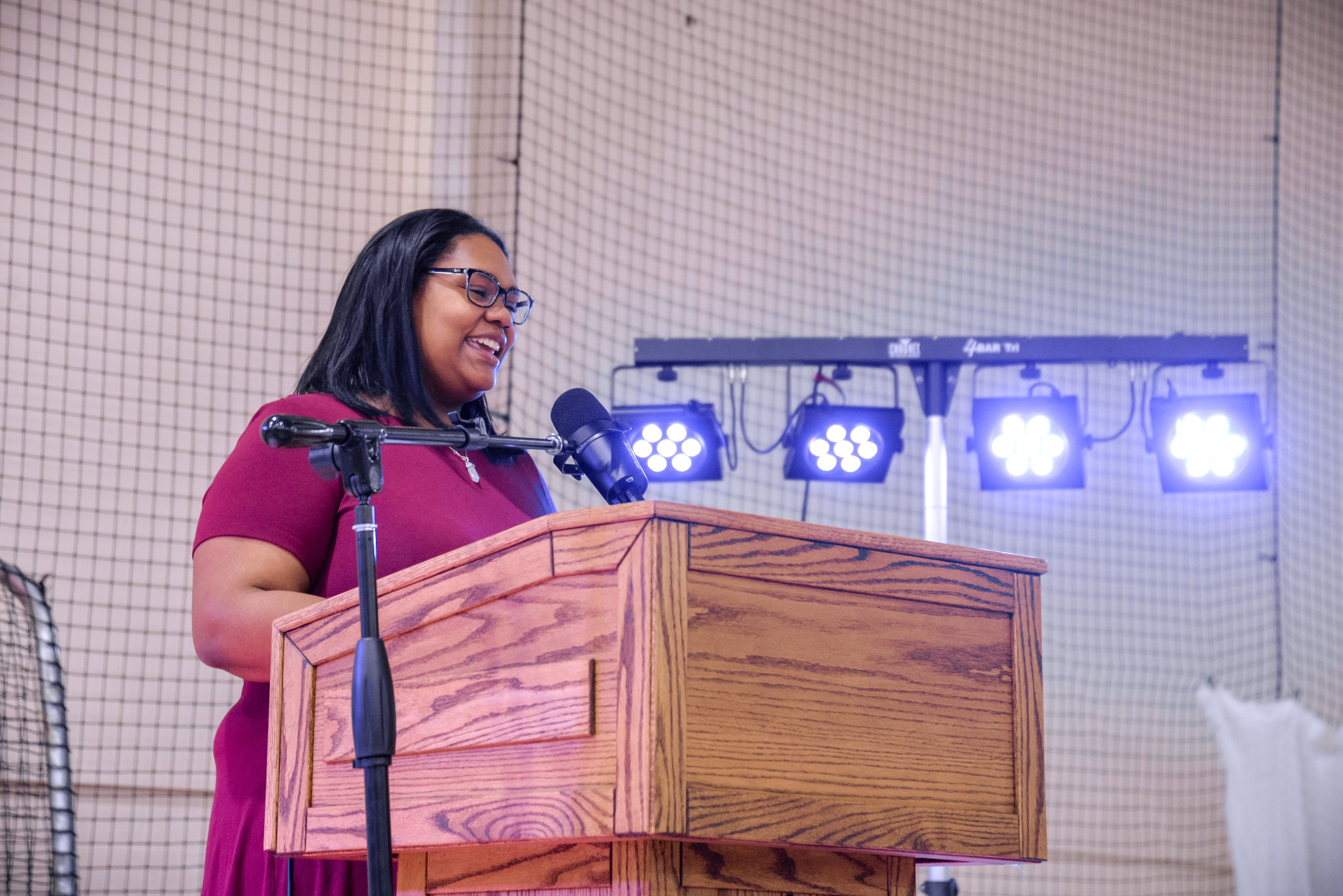 Kortnie Sheppard speaking at the 2021 Martin Luther King, Jr. Unity Brunch